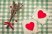 Greeting card to St. Valentine's day with hearts — Stock Photo