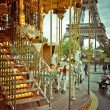 Eiffel Tower and vintage carousel, Paris, France — Stock Photo #38833231
