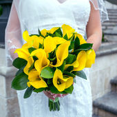 Wedding yellow flowers, bouquet — Stock Photo