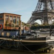 Eiffel tower and Seine — Foto de stock #39208327