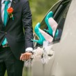 Stock Photo: Wedding details in blue colors
