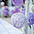 Stock Photo: Purple wedding decotation