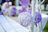 紫の結婚式 decotation — ストック写真