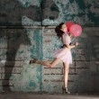 Stock Photo: Jumping with balloons