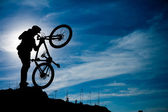 Mountain bike man outdoor — Stock Photo