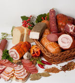 Meat delicacies — Stock Photo