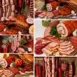 Meat Delicacies collage — Stock Photo #40906107