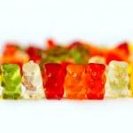 Row of jelly bears — Stock Photo #41563795