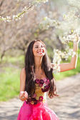 Portrait of sensual spring woman — Stock Photo