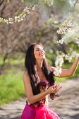 Portrait of sensual spring woman — Stock Photo