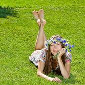 Summer happy woman — Stock Photo