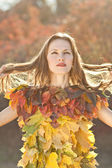Autumn Woman Fashion Portrait — Stock Photo