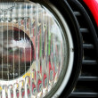 Classic headlamp of vehicle — Stock Photo