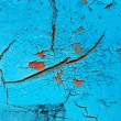 Stock Photo: Blue peeling paint