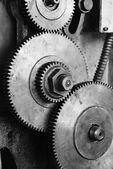 Dirty gear of lathe machine — Stock Photo