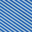 Close up on blue and white line fabric with 30 degree angle — Stock Photo