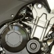 Clean motorcycle engine — Stock Photo