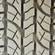 Close up on dirty tire foot print background — Stock Photo #31975263