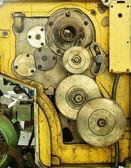 旋盤機械の古いギア — ストック写真