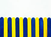 Blue and yellow paling — Stock Photo