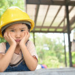 Anxious mood of kid engineer — Stock Photo #49336481