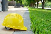 Yellow safety helmet — Stock Photo