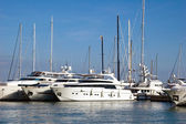 Yachts located in a marina in Mallorca Spain — Stock Photo
