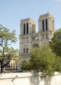 Notre Dame Cathedral located in Paris France — Stock Photo