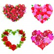 Heart with Red Roses — Stock Vector