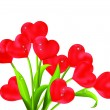 Royalty-Free Stock Vectorafbeeldingen: Heart flowers