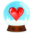 Royalty-Free Stock Vector Image: Heart in Snow globe