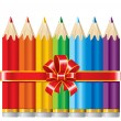Pencils with Ribbon — Stock Vector