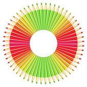 Redial Pencils — Stock Vector