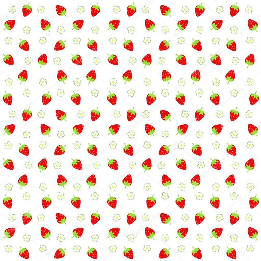 Twitter Backgrounds Strawberries Strawberry Background — Vector