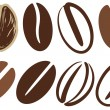 Coffee beans — Stock Vector