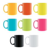 Color Coffee Cup — Stock Vector