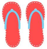 Flip-flops vektor sandale — Stockvektor