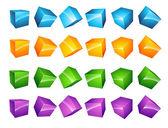 Vector cubes Set — Stock Vector