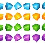 Color Vector cubes Set — Stock Vector