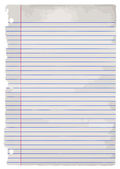 Old Student Writing Paper — Stock Vector