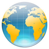 Earth Map icon — Stock Vector