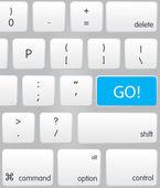 Go Keyboard — Stock Vector