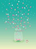 Jar of hearts — Stock Vector