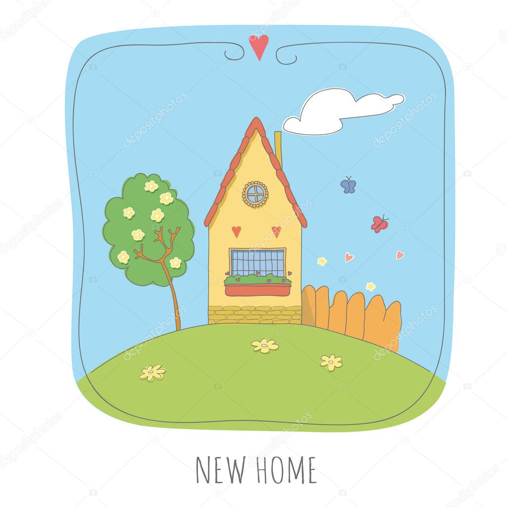 New home cartoon illustration stock vector juliahenze for New home images