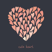 Illustration of a heart for Valentine's day or wedding — Vector de stock