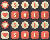 I love sale (flat icons collection) — 图库矢量图片