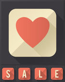 Miluji prodej (ploché ikony kolekce) — Stock vektor