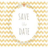 Sweet grunge save the date card with a wreath — Stock Vector