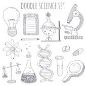 Doodle science set — Stock Vector