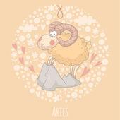 Cartoon illustration of Aries (Ram) — Vetorial Stock